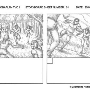 Sonaflam - TV Commercial 1 - Storyboard 1