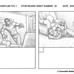 Sonaflam - TV Commercial 1 - Storyboard 2