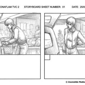 Sonaflam - TV Commercial 2 - Storyboard 1