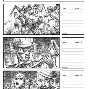 Starboy - Flying music video - Storyboard 5