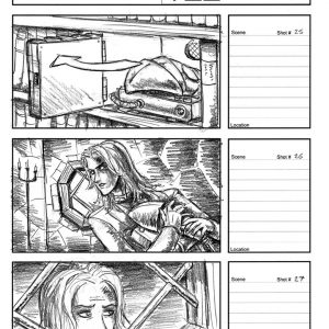 Starboy - Flying music video - Storyboard 9