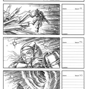 Starboy - Flying music video - Storyboard 25